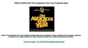 free the audiobook of the year audiobook mp3
