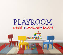 kids wall decal playroom share imagine laugh wall sticker zoom