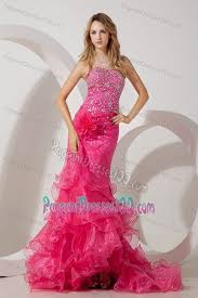 pageant dresses for brush beaded hot pink pageant dresses for