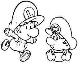 Mario Colouring Pages