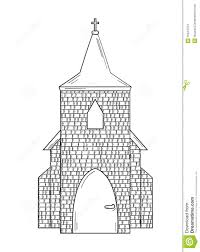 sketch of the church stock illustration image 55344754