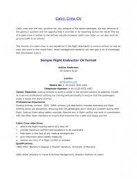 Sample Resume Flight Attendant by Report Letter Format Examples