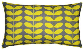 Pillow Decor Ltd Pillow Decor Mid Century Modern Yellow Throw