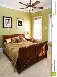 green bedroom with ceiling fan royalty free stock photography art bed bedroom ceiling fan