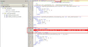 tutorial oracle stored procedure oracle how to debug a stored procedure in toad stack overflow