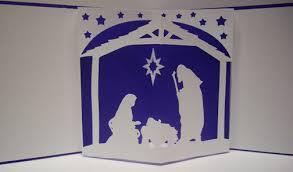 paper pulse blog spot nativity pop up card