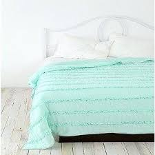 Urban Outfitters Waterfall Duvet Tiered White Ruffle Duvet