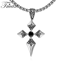 online buy wholesale gothic design style from china gothic design witcher cruz stainless steel cross achor design pendant necklace punk gothic style titanium jewelry accessories for