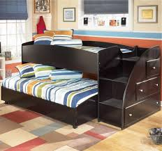 kids full size bed with storage out door panel 3 bookcase shelves
