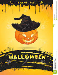 halloween party banner halloween party poster pumpkin witch monster trick or treat stock