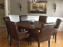 Leather Dining Room Furniture Leather Parsons Chairs For Sale Dining Table With Leather