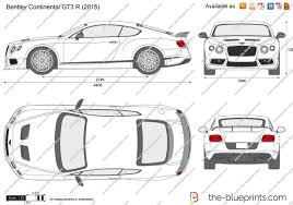 bentley gt3r 2017 the blueprints com vector drawing bentley continental gt3 r