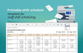 printable shift schedule template for staff shift scheduling