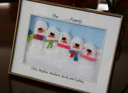 make a snowman family picture dollar store crafts
