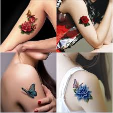3d body art chest stickers temporary tattoos removal fake small