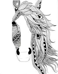 Horse Tattoo Ideas Pin By Barbara On Coloring Horse Zebra Pinterest Tattoo