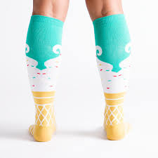 knee high halloween socks sock it to me women u0027s knee high ice cream dream
