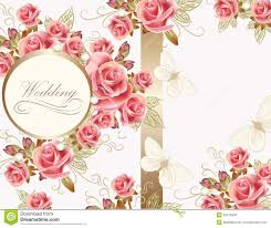 wedding greeting message wedding greeting card design with roses stock vector