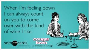 Cougar Town Memes - friends cougar town wine sad courteney cox funny ecard cougar
