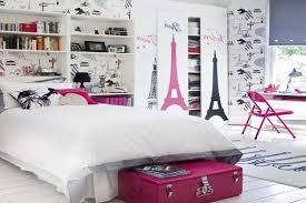 simple teenage bedroom decorating ideas with paris theme
