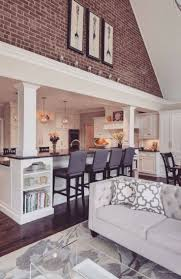living room open kitchen floor plans with islands brown couch