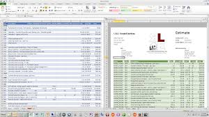 Construction Estimate Excel Template by Xactimate Estimate In Excel Youtube