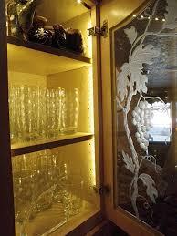 glass door kitchen cabinet lighting installing lighting on a glass cabinet inspiredled