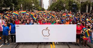 apple celebrates pride during parades in san francisco new york
