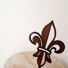 fleur de lis cake topper fleur de lis cake topper rustic wooden cake topper wedding cake