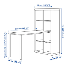Kallax Schreibtischkombination Schwarzbraun Ikea Kallax Bureau