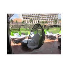 wicker outdoor hanging egg pod chair vp