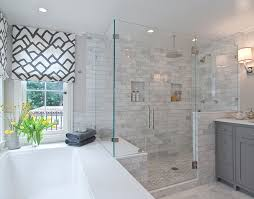 Bathroom Shower Tub Ideas Colors Traditional Master Bathroom With White Underscore Collection 60