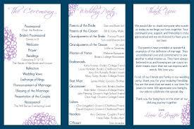 blank wedding program templates designs tri fold wedding invitations canada as well as tri fold