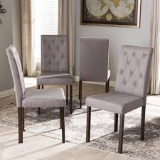 Smartseat Dining Chair Cover by Upholstered Dining Chairs Set Of 4 Dining Room Gray Fabric Dining