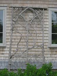 make a trellis from branches in your yard meditation garden