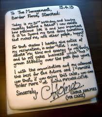 resignation letter cake foodiggity