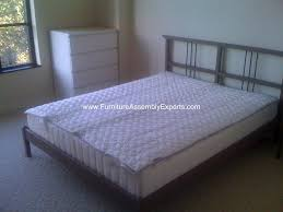Rykene Bed Frame Ikea Rykene Bed Frames With Malm Chest Of Drawers Assembled At