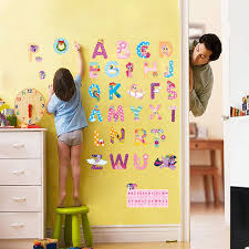 Letter Wall Decals For Nursery Animal Alphabet Lovely Letters Wall Stickers Nursery Room