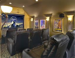 Modern Media Room Ideas - interior attractive modern media room lighting design with grey