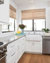 white shaker kitchen cabinets with gray quartz countertops modern new construction house ideas home bunch an