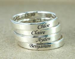 stackable mothers rings with names custom name ring promise ring stackable name ring mothers