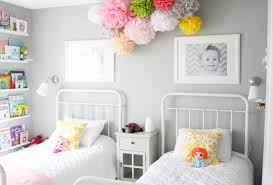 Light Grey Bedroom Walls by Girls Bedroom Mind Blowing Shared Girl Bedroom Decoration With