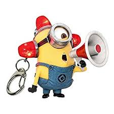 minion light up and sound keychain toys