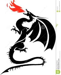 drawn dragon breath fire pencil and in color drawn dragon breath