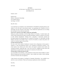 Residential Counselor Resume Sample by Residential Counselor Cover Letter Samples And Templates