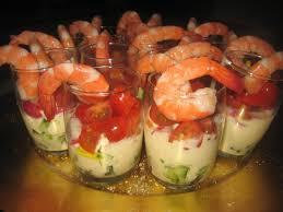 cuisine verrine verrine crevettes et crudités sauce légère au fromage blanc