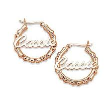 name plate earrings 38 best custom gold name jewelry images on bamboo