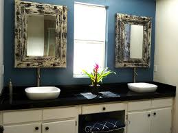 Shabby Chic Bathroom Furniture Furniture White Wooden Shabby Bathroom Vanity With Black Shabby