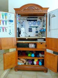 One Day I Want My Armoire Craft Armoire With Table My Sewing Project For An Old