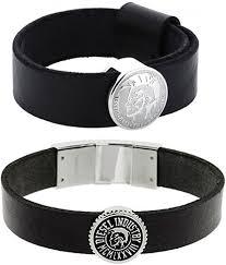 black leather strap bracelet images Kaminorth shop diesel diesel bracelet morphine perception round jpg
